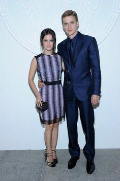 Rachel Bilson with Hayden Christensen at Versace Men's Fashion Show