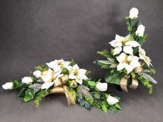 STROIKI NA GROBY - Kompozycje kwiatowe Marko604 Diy Projects To Try, Erika, Floral Wreath, Wreaths, Plants, Christmas, Strands, Deco, Xmas