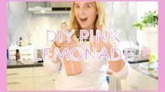 ♥DIY PINK LEMONADE♥ - YouTube