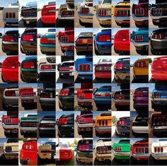Mustang taillights through the years! 1965-2014