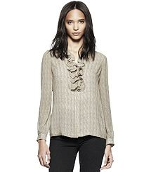 FELICIA TOP. Tory Burch. Fits into my black and cream color scheme.