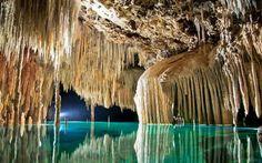 Rio Secreto's underground river in Riviera Maya, Mexico