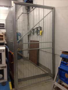 Secure inventory with Galvanized Steel Welded Cages. Free on site layouts. New York City Ny, Galvanized Steel, Cage, Lockers, Locker Storage, Layouts, Home Appliances, Nyc, House Appliances
