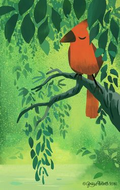 """Red Bird"" ~Greg Abbott~"
