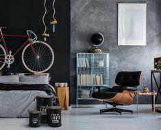 Zestaw 3 pojemników Urban Loft czarne   Udekoruj Dom Urban Loft, Kartell, Led, Hanging Chair, Wood Wall, Bedroom, Furniture, Environment, Design