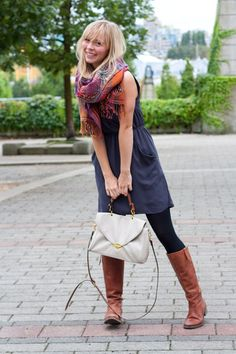 Neutral Canvas for a Bold Scarf