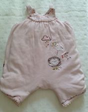 Mamas & Papas Baby Romper Suit Playsuit Size 3-6 Months Baby Hedgehog Dungarees