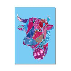 Your place to buy and sell all things handmade Jellyfish, Pattern Art, Graphic Art, Cow, Cards, Products, Medusa, Map, Playing Cards