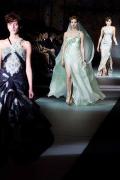 Giorgio #Armani Privé runway looks #onenightonlynyc