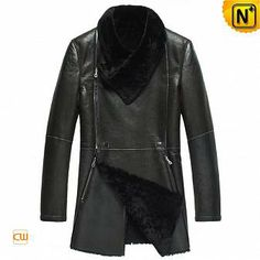 Fur Lined Sheepskin Coat for Men CW868001
