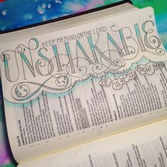 November 20. Psalm 16:8. I keep the Lord on my mind always. Because He is at my right hand, I will not be shaken. ❤️ 20/30 #30daysofbiblelettering ❤️ I read this verse and this chapter and am reminded that this unshakable mindset is only possible by keeping my mind on Him at all times. I have been shaken this year. The hard of it kept me in a fog that made keeping my mind on Him difficult. Each moment my mind looked at the hard instead of Him, I was defeated all over again. This chapter is…