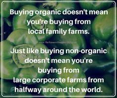 Buying organic doesn