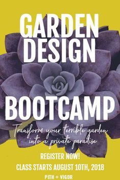 Garden Designs Ideas 2018 : Enroll now in garden design bootcamp - transform your garden from drab to magazine worthy. Led by Rochelle Greayer- Author of Cultivating Garden Style and International Landscape Designer for over 18 years. Backyard Garden Design, Small Garden Design, Life Is Beautiful, Beautiful Gardens, Wine Images, Pinterest Garden, Garden Pictures, Boot Camp, Garden Styles
