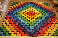 Afbeeldingsresultaat voor rainbow quilt