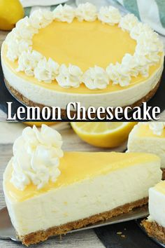 No-Bake Lemon Cheesecake! 60 Lemon Cheesecake Inspirational Pictures and Lemon Cheesecake Recipe No-Bake Lemon Cheesecake! A Delicious, Sweet and Easy No-Bake Lemon Cheesecake! Lemon Cheesecake Recipes, Easy No Bake Cheesecake, Lemon Desserts, Lemon Recipes, Köstliche Desserts, Delicious Desserts, Dessert Recipes, Lemon Raspberry Cheesecake, Digestive Biscuits