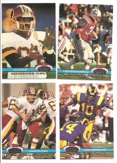 1991 Stadium Club Members Only (4) Card Football Lot *** This is an Amazon Affiliate link. Continue to the product at the image link.