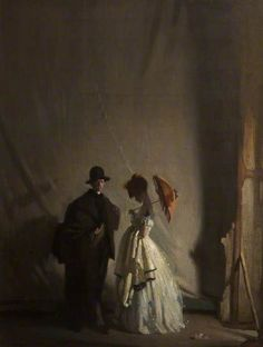 Behind the Scenes, 1910 by Sir William Orpen (1878-1931)