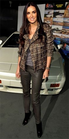 Demi Moore tweed jacket