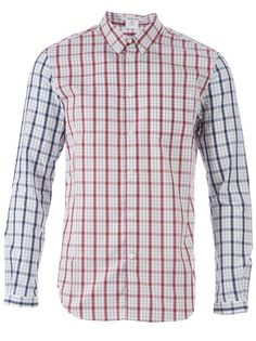 CARVEN - Two-tone checked shirt