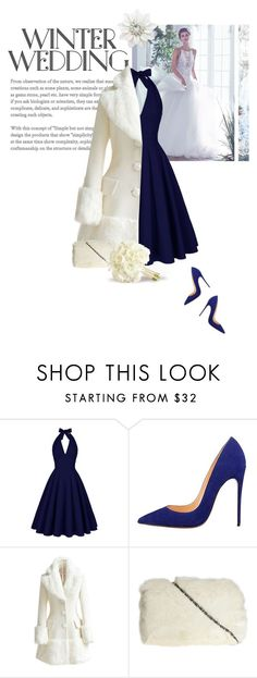 """""""Nice Day For A Winter Wedding"""" by indigo-summer ❤ liked on Polyvore featuring Maggie Sottero, WithChic, Dorothy Perkins and winterwedding"""