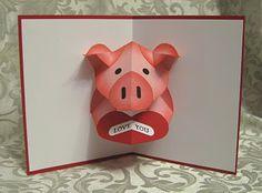 Stamp-n-Design: Pop-Up Valentine Piggy card