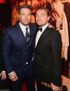 Ben Affleck et Leonardo DiCaprio aux Oscars 2016