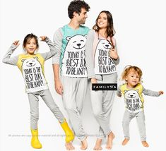 Family Pajamas, Funny Bear Pajamas, Matching Family Jammies, Matching Pajamas, Mommy And Me Matching Set, Dad Matching Holiday Pajamas