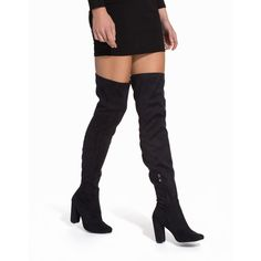 Nly Shoes Block Heel Thigh Boot (790 SEK) ❤ liked on Polyvore featuring shoes, boots, knee high boot, black, everyday shoes, womens-fashion, knee high boots, black over-the-knee boots, over knee boots and knee high heel boots