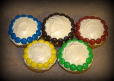 Winter Olympic Craft Ideas: Olympic Ring Cupcakes