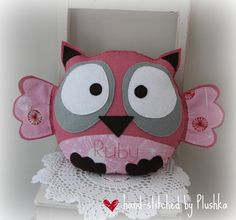 All Plushka toys are designed and hand-stitched by me. They can be made to order in a variety of felt/fabric combos. To place an order, ema. Youre Cute, Popular Toys, All Craft, Baby Owls, Felt Fabric, Sewing Toys, Handmade Felt, Felt Toys, Felt Animals
