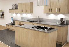 Ellis Furnitue Brompton Shared Kitchen in Washed Oak