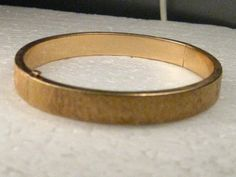 "Vintage 14kt Tiffany & Co. NY Clamper Bracelet, 1940's, 6.75"", 15.77 grams, brushed finish"