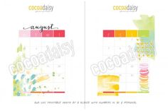 FREE August Planner Printables