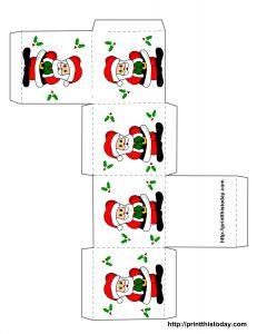free printable christmas box