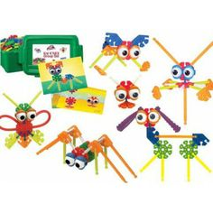 Kid K'Nex 131 Piece Set--has cards for building models, or can be open-ended