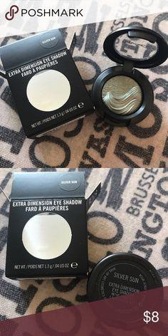 MAC Extra Dimension Eyeshadow in Silver Sun Grey/green with beautiful shimmer. Brand new in box. MAC Cosmetics Makeup Eyeshadow