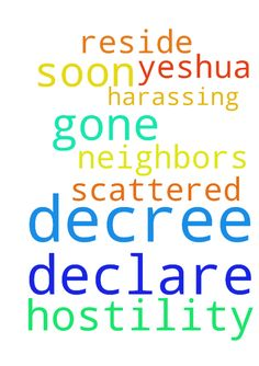 I declare and decree that the hostility will be gone - I declare and decree that the hostility will be gone soon from where I reside. I declare and decree that my neighbors who are harassing A and I will be scattered soon from us. In the name of Yeshua, Amen Posted at: https://prayerrequest.com/t/zPY #pray #prayer #request #prayerrequest
