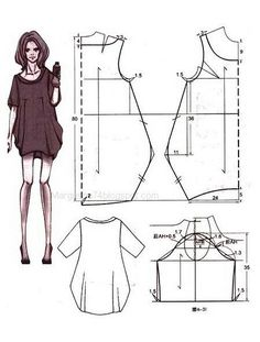 Ich mag die Accessoires und Klamotten in I like the accessories and clothes in . Boho Pattern, Tunic Pattern, Diy Clothing, Sewing Clothes, Dress Sewing Patterns, Clothing Patterns, Fashion Sewing, Diy Fashion, Creation Couture