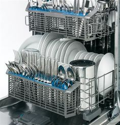 Complete your kitchen look with long-lasting durability and the stainless steel interior of this GE dishwasher.