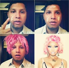 #MakeupTransformation Nicki Minaj