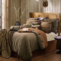 Highland lodge bedding by HiEnd Accents. The warmth and beauty of a rustic cabin is portrayed through this beautiful lodge bedding set, with its calming earth tones & natural colors to remind you of the beautiful outdoors. Lodge Bedroom, Bedroom Decor, Bath Decor, Log Cabin Bedrooms, Bedroom Ideas, Master Bedroom, Rustic Bedrooms, Single Bedroom, Cozy Bedroom