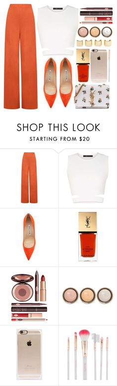 """Untitled #3512"" by monmondefou ❤ liked on Polyvore featuring WearAll, BCBGMAXAZRIA, Manolo Blahnik, Yves Saint Laurent, Charlotte Tilbury, Luv Aj, By Terry, Incase, Accessorize and women's clothing"