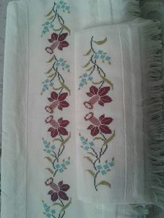 This Pin was discovered by gul Canvas Template, Cross Stitch Designs, Cross Stitch Patterns, Palestinian Embroidery, Embroidered Roses, Just Cross Stitch, Stitch 2, Bargello, Cross Stitch Embroidery