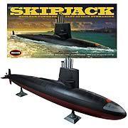 USS Skipjack SSN 585 Submarine Model Kit - http://lopso.com/interests/diy/uss-skipjack-ssn-585-submarine-model-kit/
