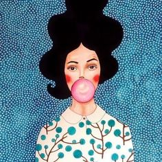 Illustration Hülya Özdemir Via @dori_sue #frizzifrizzi #illustration