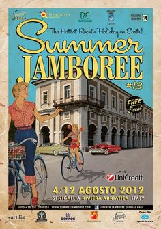 Summer Jamboree 2012 ... in the rockin town of Senigallia (Italy) ... Official Event Poster