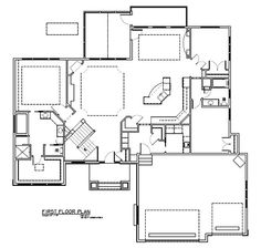 Rambler House Plan, Just Need To Mess A Bit With The Den/ Livingroom/ Wr  Area. Have The Guest Room Have Itu0027s Own Wr Move The LR Up To Accomdate Thu2026