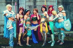 Disney Princesses in Battle Armor, photo by The Will Box.