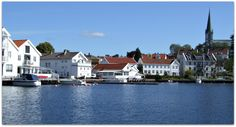 Lillesand Norway Small Towns, Norway, Sweden, Mansions, House Styles, Home Decor, Summer, Decoration Home, Manor Houses