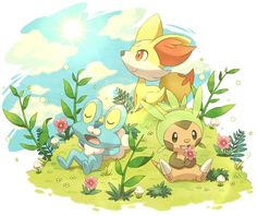 Pokemon X & Y fan art